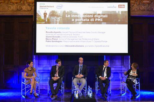Vicenza 19 novembre 2015, Teatro Olimpico.Le innovazioni digitali a portata di PMI. Tavola rotonda con Calpeda e Finint.