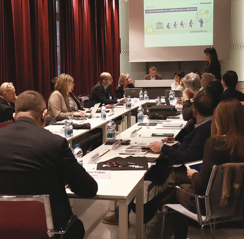 Un momento dell'evento dedicato all'innovazione nelle università organizzato da NetworkDigital4