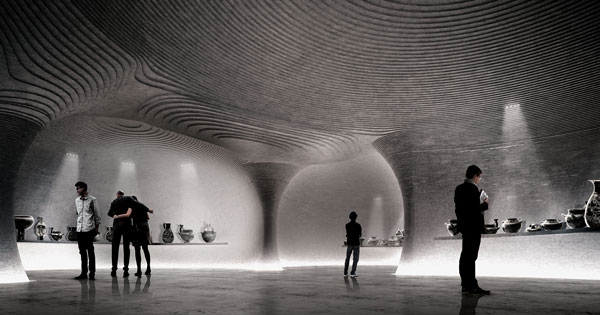Il rendering del progetto del Museo di Arte Etrusca di Milano dello studio Mario Cucinella Architects