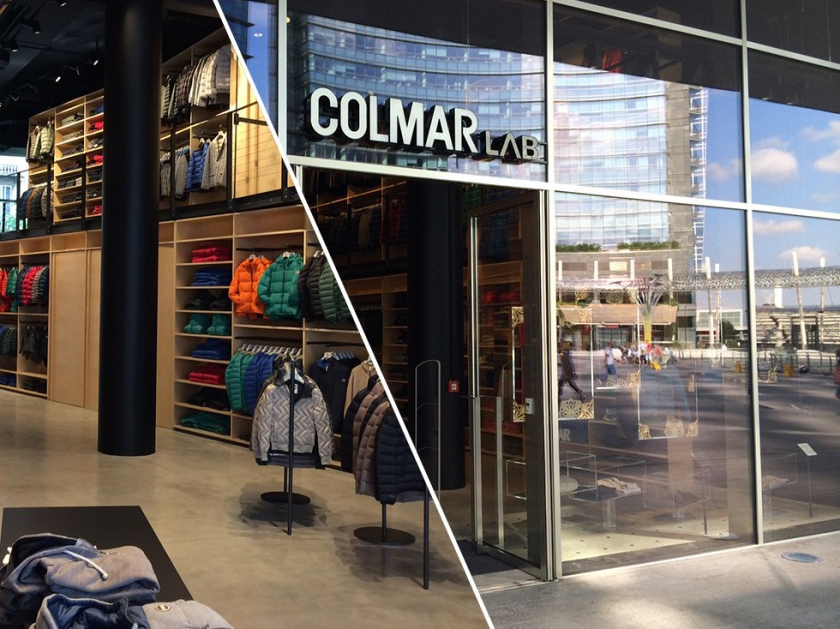 Il concept store di Colmar in piazza Gae Aulenti a Milano