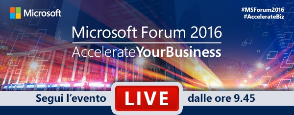 Microsoft Forum 2016 Accelerate Your Business