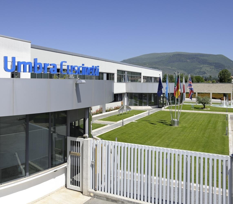 La sede del quartier generale Umbragroup, a Foligno