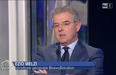 Ezio Melzi, Direttore Generale BravoSolution durante il suo intervento in trasmissione