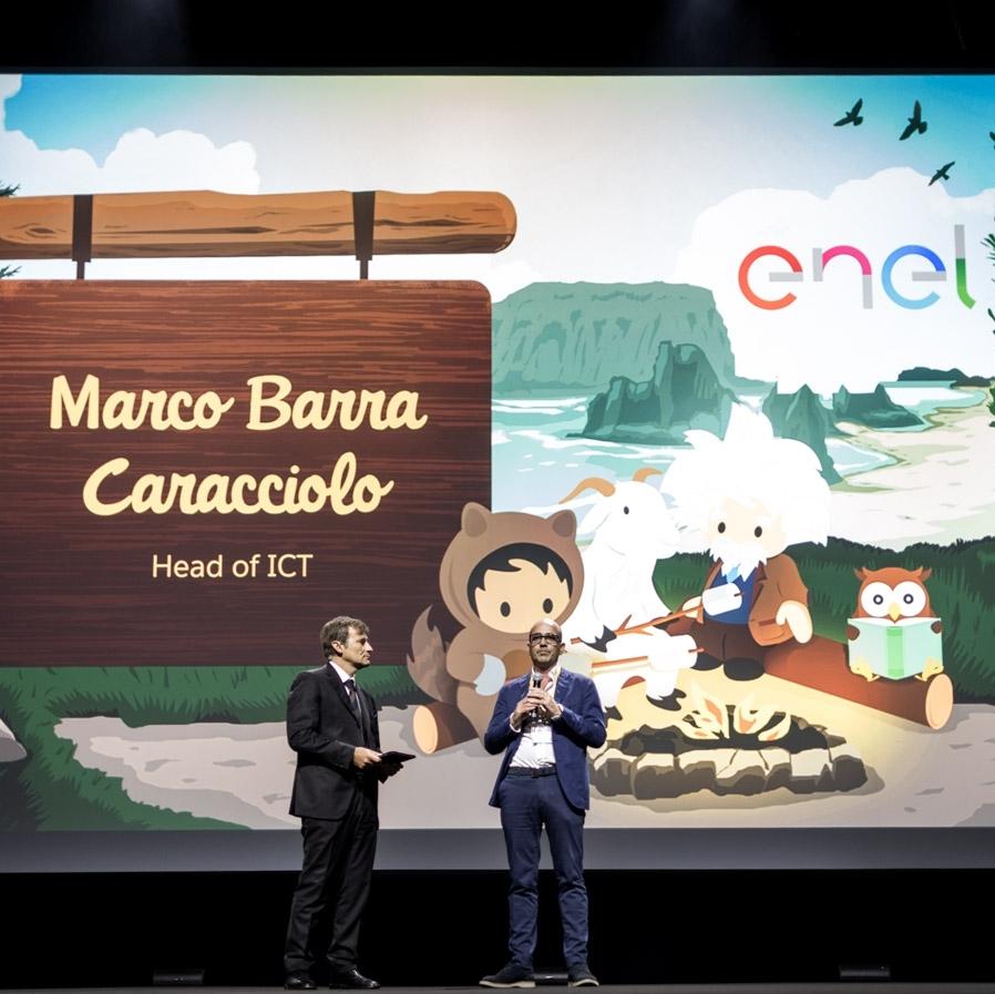 Federico Della Casa di Salesforce e Marco Barra Caracciolo di Enel