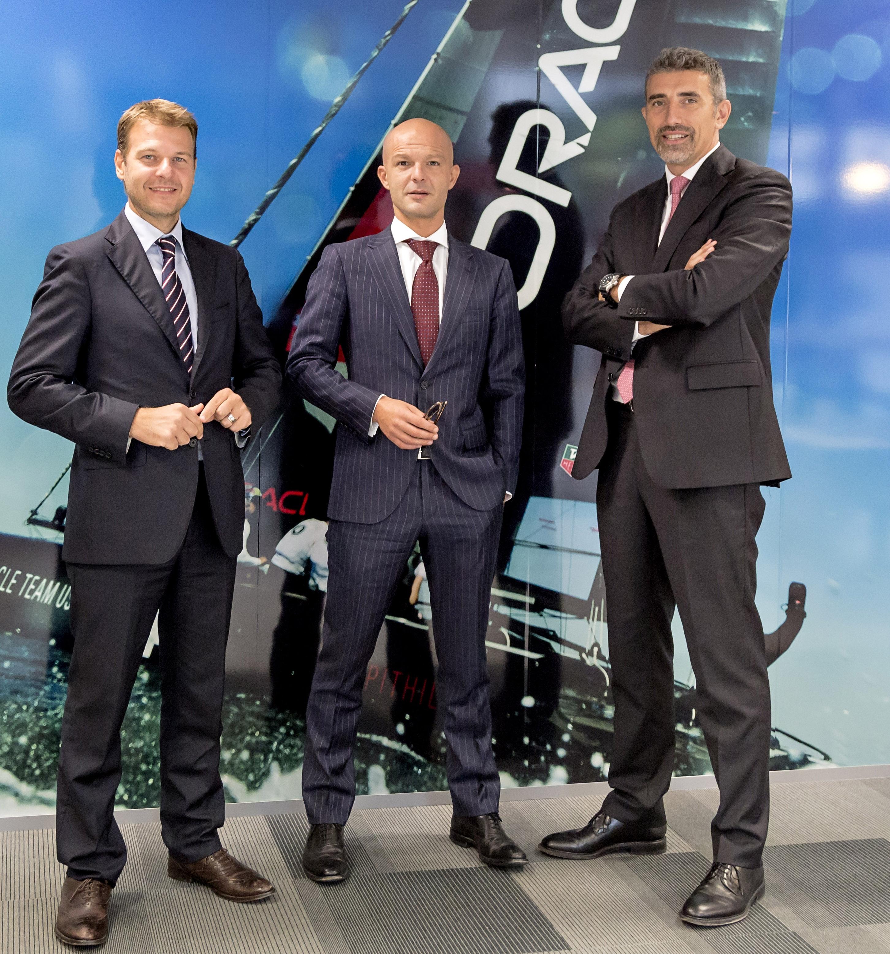 Da sinistra Fabio Spoletini, Emanuele Ratti e Giovanni Ravasio di Oracle