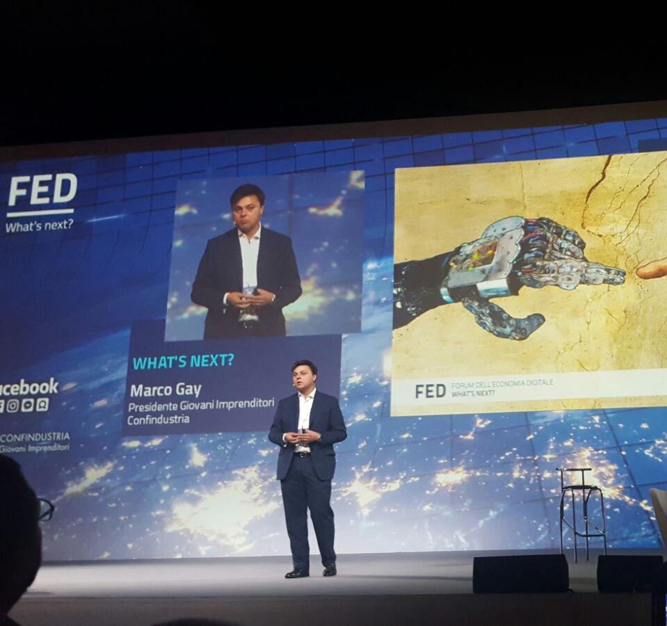 Marco Gay, presidente di Giovani Imprenditori di Confindustria, apre il FED 2016