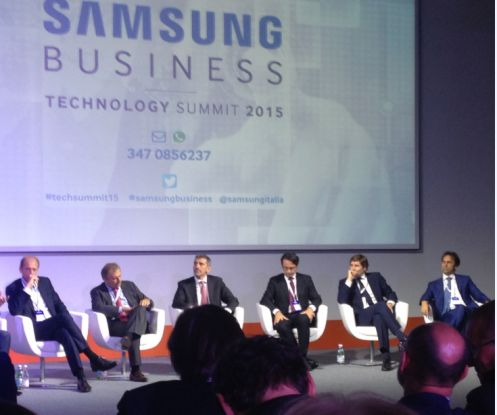 Un momento della tavola rotonda dell'evento Samsung Business Technology Summit