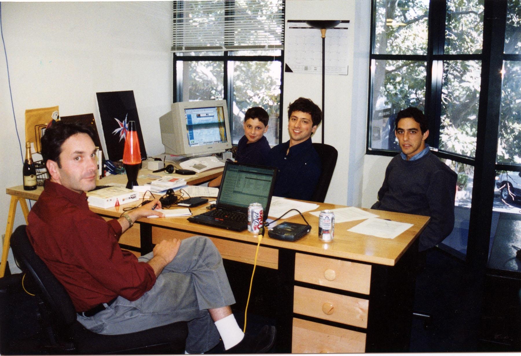 Il team di Google agli esordi
