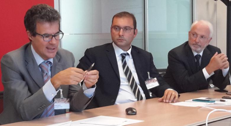 Da sinistra: Paolo Giudici, Ordinario di Financial Risk Management e Statistica presso l'Università di Pavia; Tommaso Minola, Professore Aggregato presso la Facoltà di Ingegneria dell'Università di Bergamo e Mario Bonelli, Presidente di RES (Research For Enterprise Systems)