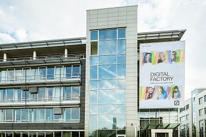 Il palazzo della Deutsche Bank Digital Factory