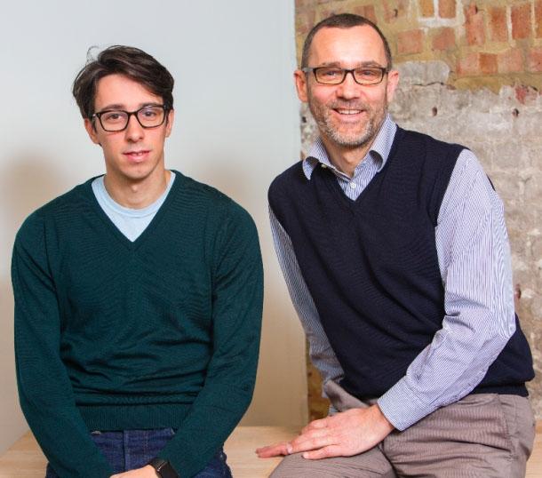 Giovanni Daprà (CEO) e Paolo Galvani (presidente), i due fondatori di MoneyFarm
