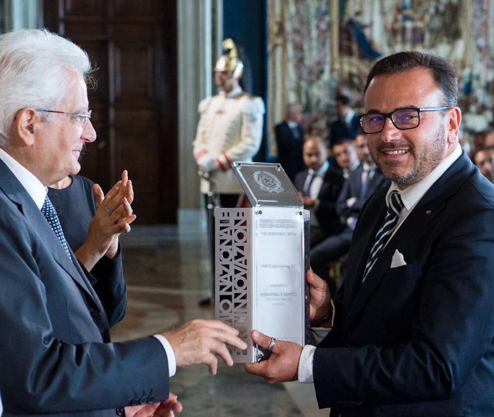Francesco Castagna, AD di SMS Engineering, premiato dal Presidente della Repubblica Sergio Mattarella