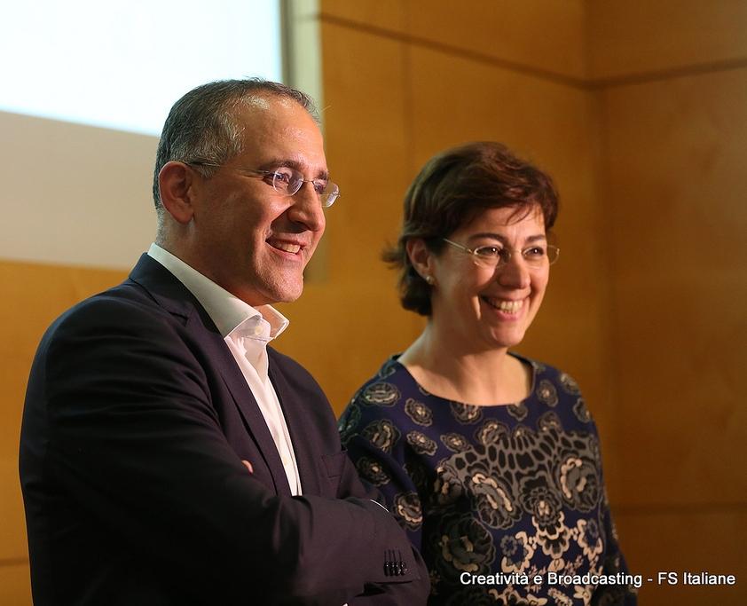 Renato Mazzoncini, AD di FS e Gioia Ghezzi, Presidente del Gruppo Ferrovie