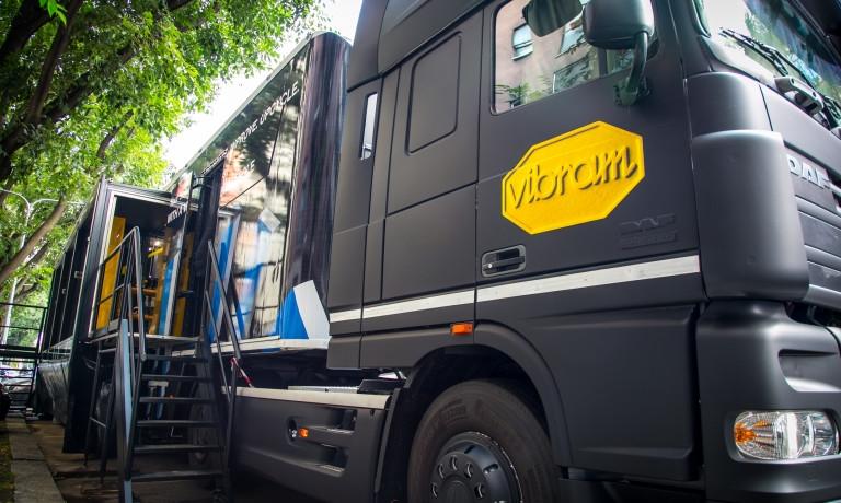 Il truck usato nell'operazione Vibram Sole Factor