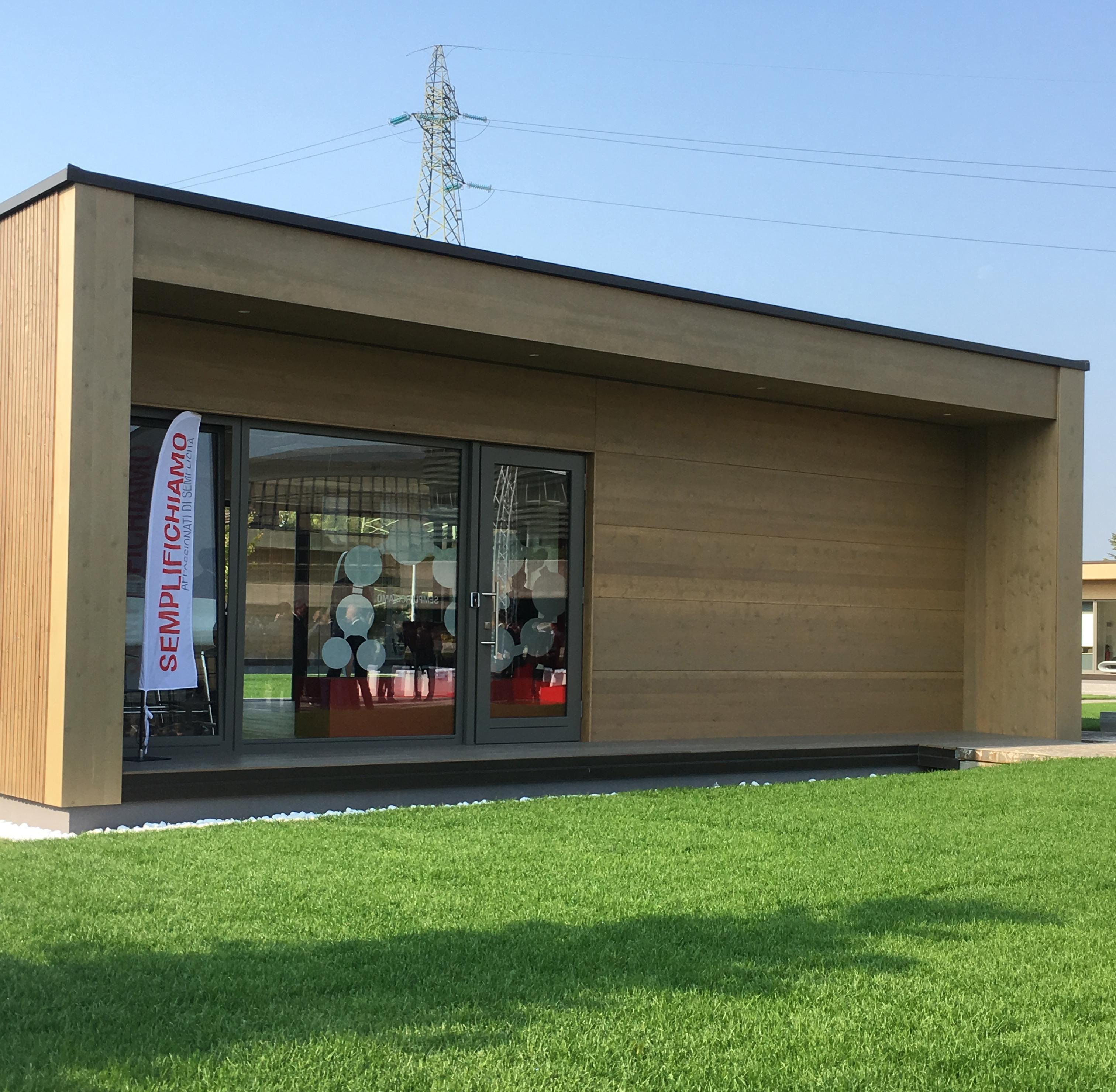 Una delle 6 casette dell'Innovation Park