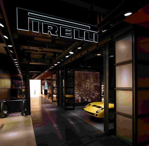 Il Flagship Store di Pirelli in Corso Venezia, a Milano