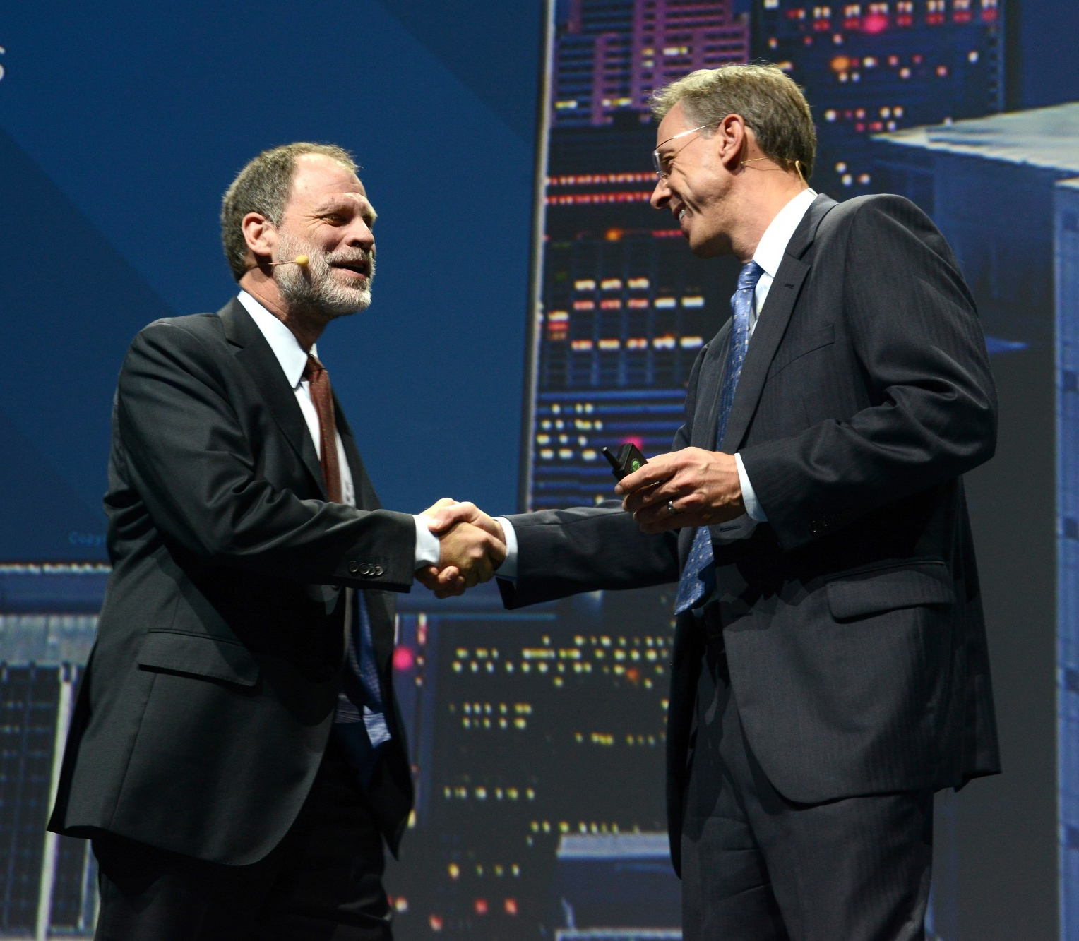 Fritz Lehman, Executive Vice President and Chief Customer Officer, SAS con Randy Guard, Executive Vice President and Chief Marketing Officer, SAS