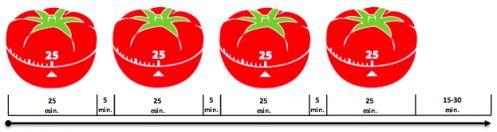 Sequenza gruppo di pomodori