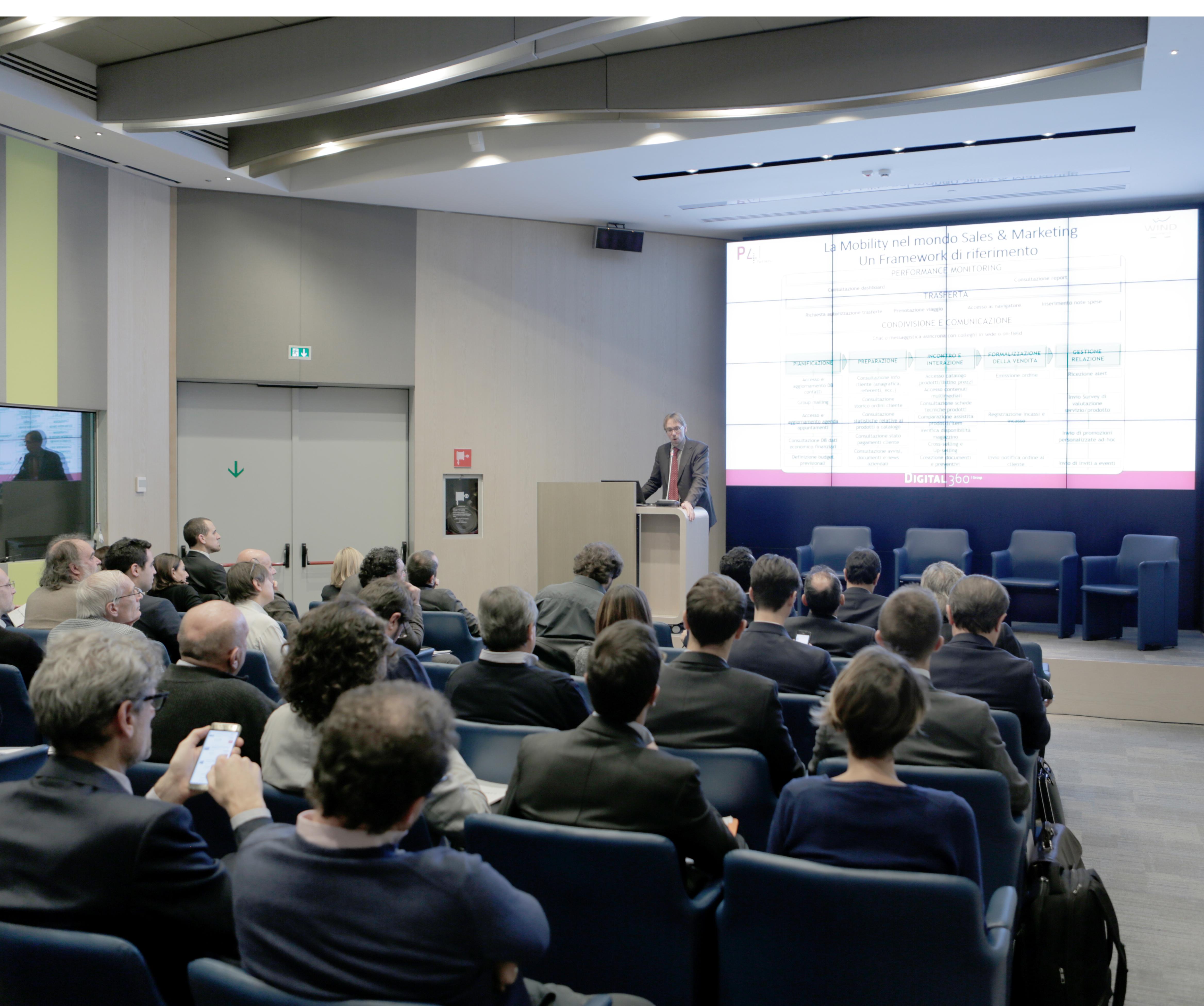 Paolo Catti, P4i, durante lo speech