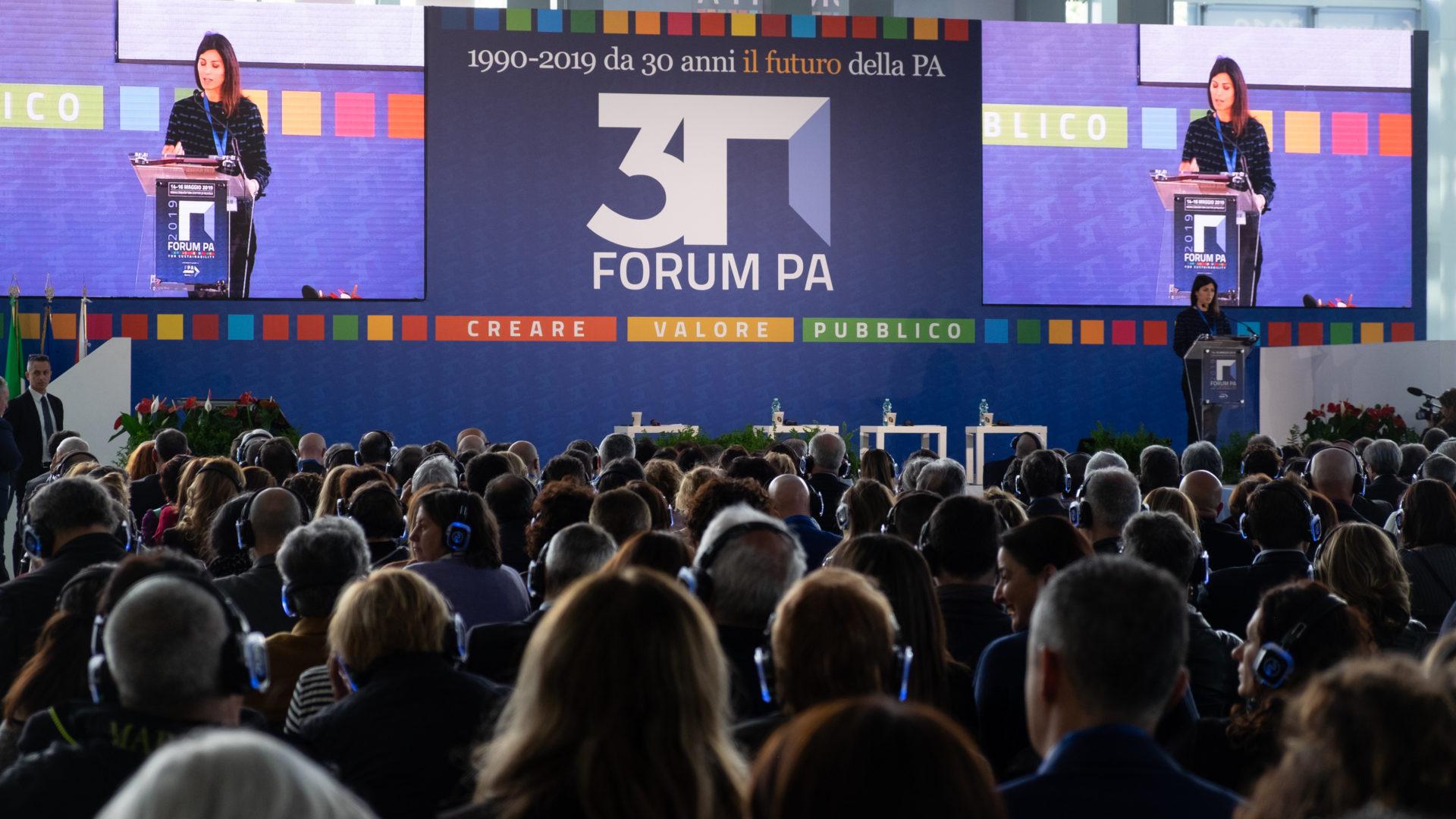 L'intervento della sindaca Raggi a Forum PA (foto Stefano Corso)